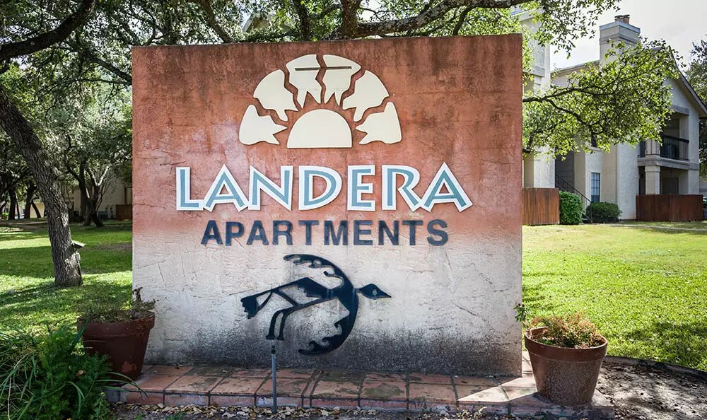 Landera Apartments for Rent Sign