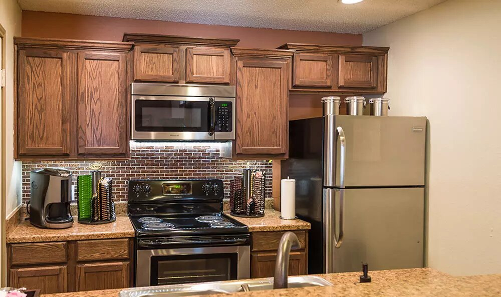 Kitchen with Separate Counter